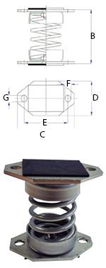 Ressort INOX MLC-BB - 25 à 125 kgs