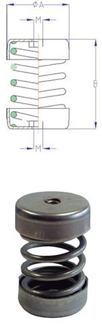 Ressort INOX MLC - 25 à 350 kgs