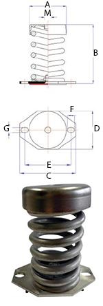 Ressort INOX MLC-B - 150 à 350 kgs